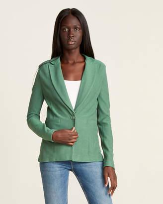 Mariella Rosati Solid Metallic Sport Jacket