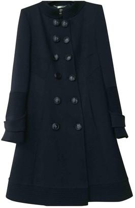 Versace Navy Wool Coat for Women