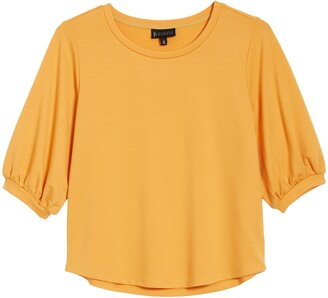 Bobeau Audre Puff Sleeve French Terry Top