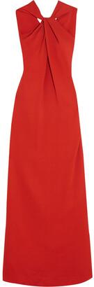 Lanvin Twist-front Stretch-crepe Gown