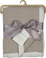 Living Textiles Muslin Textured Blanket - Grey