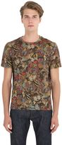 Valentino Butterfly Printed Cotton Jersey T-Shirt