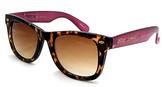 Betsey Johnson Tortoise & Purple Sunglasses