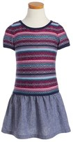 Design History Toddler Girl's Intarsia Pattern Dress