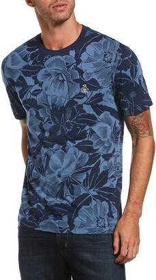 Original Penguin Tropical Print Crewneck T-Shirt