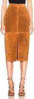 Smythe Suede Pencil Skirt