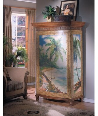Bay Isle Home Spigner Hand-Painted TV-Armoire Bay Isle Home