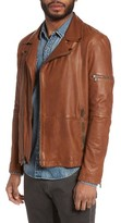 John Varvatos Men's Leather Moto Jacket