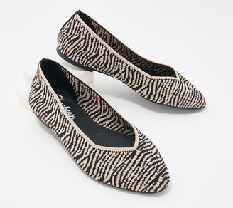 Skechers Animal Print Washable Knit Slip-On Cleo Claw-Some