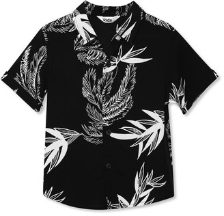 M&Co Leaf print shirt (3yrs-12yrs)