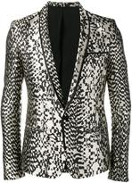 Haider Ackermann animal pattern blazer