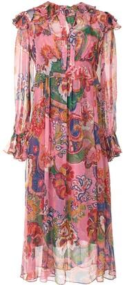 Zimmermann Lovestruck silk-chiffon midi dress
