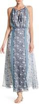 Sandra Darren Mixed Floral Print Maxi Dress