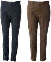 Gabicci Mens Tailored Check Patterned Pants Designer Trousers 30R-40L
