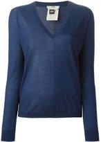 Fendi one-sided mesh sweater