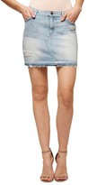 Sanctuary Women's Peyton Ripped Denim Miniskirt
