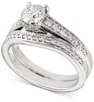 X3 Certified Diamond Bridal Set (1-1/5 ct. t.w.) in 18k White Gold