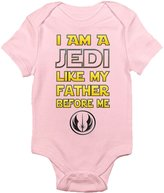 Laughing Giraffe I Am a Jedi Like My Father Before Me Funny Cute One-piece Baby Bodysuit Romper (3-6 Months, )
