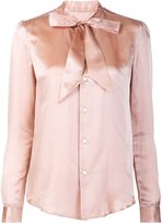 Julien David bow detail shirt - women - Silk/Cotton - S