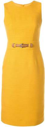 Paule Ka belted fitted dress