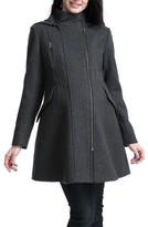 Kimi and Kai Women's Cordella Wool Blend Hooded Maternity Coat