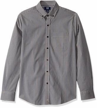 Cutter & Buck Men's Long Sleeve Anchor Gingham Button Up Shirt