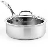 Calphalon Tri-Ply Stainless Steel 2.5 Qt. Covered Shallow Saucepan