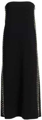 Proenza Schouler Embroidered Strapless Midi Dress