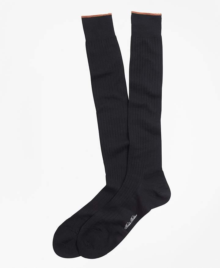 Brooks Brothers Merino Wool Sized Over-the-Calf Socks