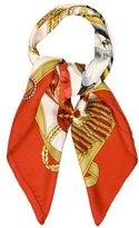 Hermes Frontaux et Cocardes Silk Scarf