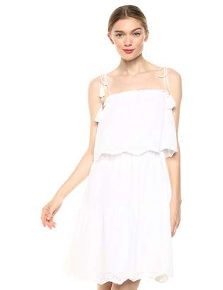Cupcakes And Cashmere Women's maiora Eyelet Embroidered Tiered Dress