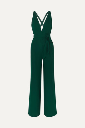 Reformation Sofi Georgette Jumpsuit - Green