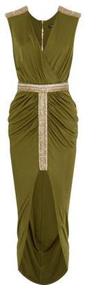 Balmain Wrap-effect Ruched Jersey Dress