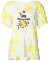 The Elder Statesman planet print T-shirt - women - Silk/Cashmere - S