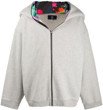 Duoltd Contrast-Hood Zipped Hoodie