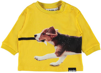 Molo Boy's Dan Dog Printed Long-Sleeve Sweatshirt, Size 6M-2