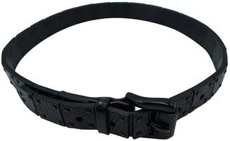 Burberry Black Leather Belts