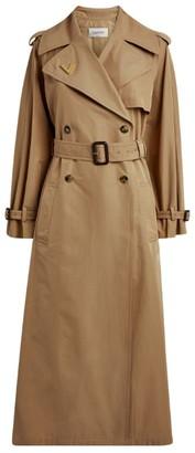 Valentino Cotton Gabardine Trench Coat