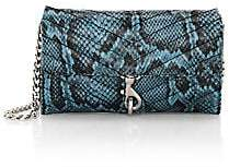 Rebecca Minkoff Women's Edie Quilted Snakeskin-Embossed Leather Wallet-On-Chain