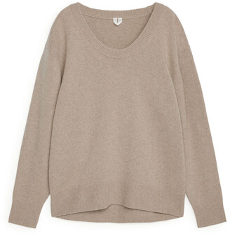 Arket Scoop-Neck Cashmere Jumper