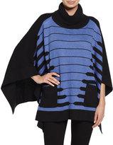 Ming Wang Printed 3/4-Sleeve Tunic, Blue/Black