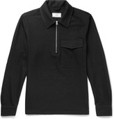 Ami Brushed Cotton and Wool-Blend Twill Half-Zip Shirt