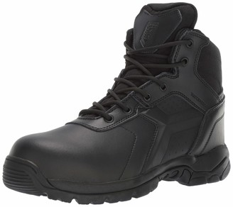 Battle OPS Men's 6-inch Waterproof Side Zip Tactical Boot Comp Safety Toe BOPS6002 Military