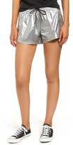 Converse Women's Perforated Metallic Shorts