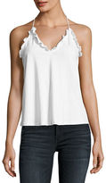 Rebecca Taylor Scoop-Neck Ruffled Jersey Tank