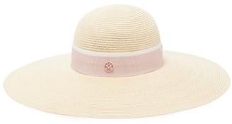 Maison Michel Blanche Straw Hat - Pink