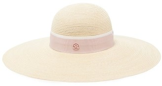 Maison Michel Blanche Straw Hat - Womens - Pink