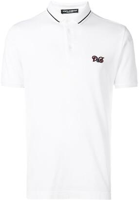 Dolce & Gabbana embroidered logo polo T-shirt