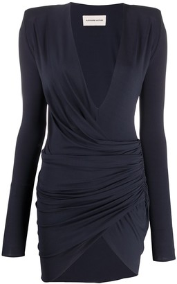 Alexandre Vauthier Front Slit Ruched Dress