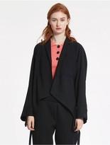 CK Calvin Klein Tropical Wool Ruched Jacket